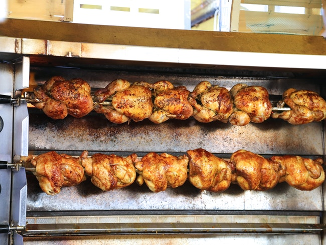 Eating Poulet Rotî in Paris