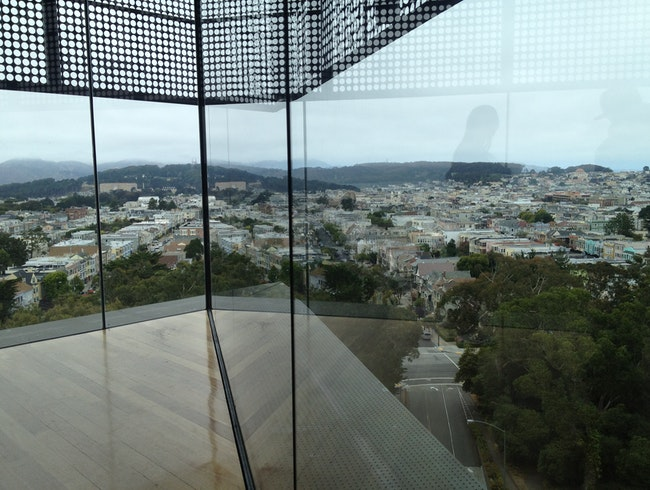 Atop the de Young Museum