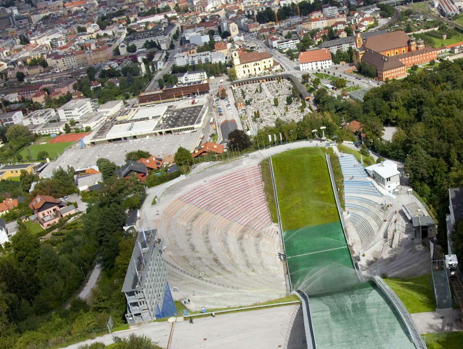 Olympic history - and views - at the Bergisel Ski Jump Innsbruck  Austria