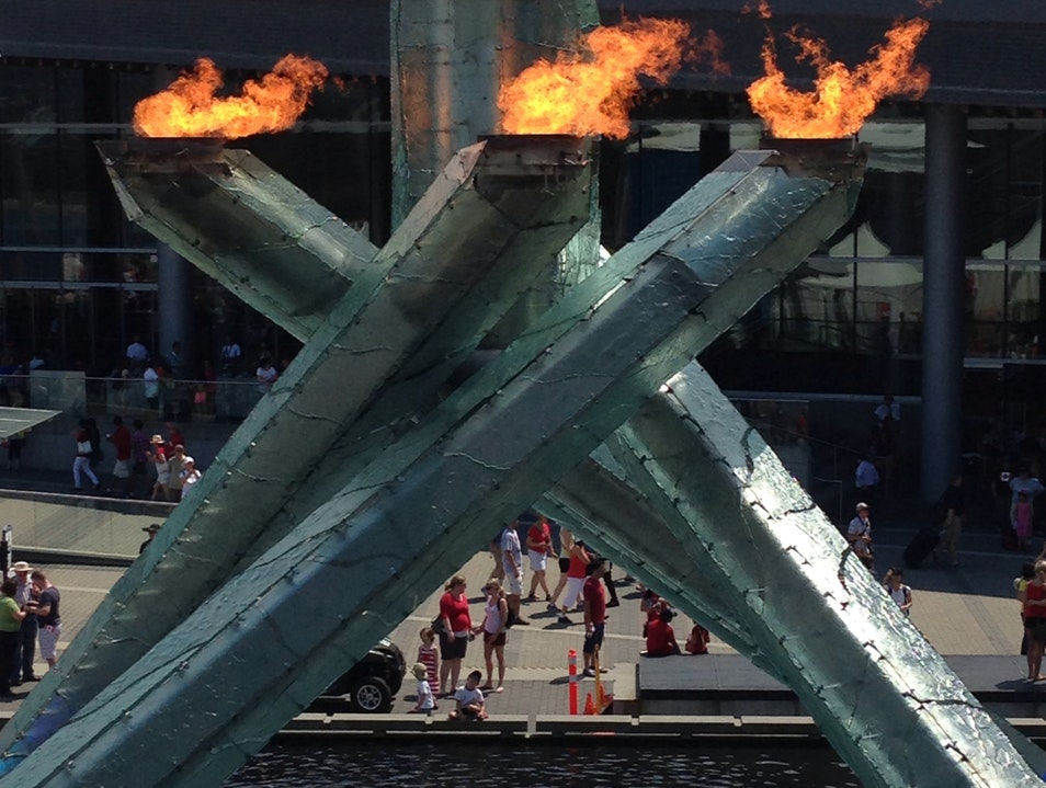 Vancouver's Olympic Cauldron Vancouver  Canada