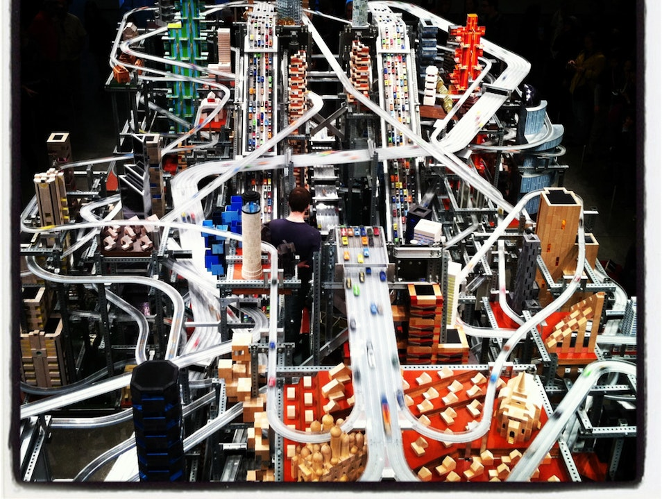 "The ""Metropolis 2"" Exhibit At LACMA Los Angeles California United States"