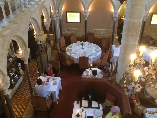 Burgundy dinner at a 12th Century Abbey