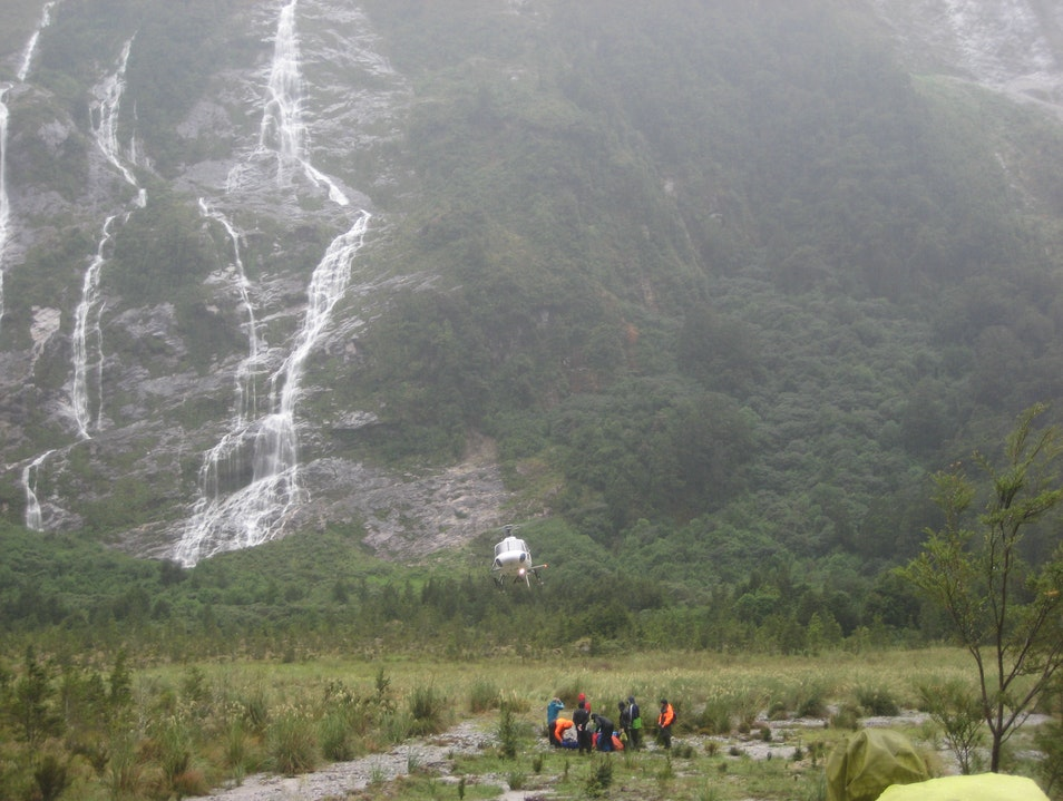 Flooding on the Milford Track, Fiasco Turned Fun Milford Sound  New Zealand