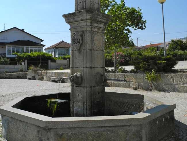 The Fountain in Vila Verde de Raia, Portugal