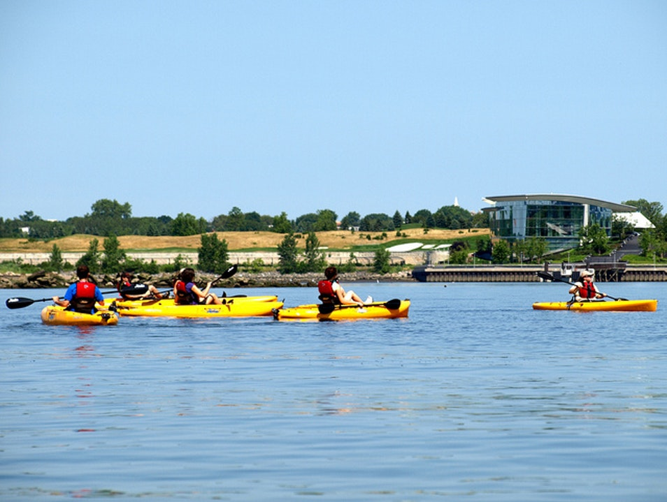 Eco-Kayaking on the Hudson Jersey City New Jersey United States