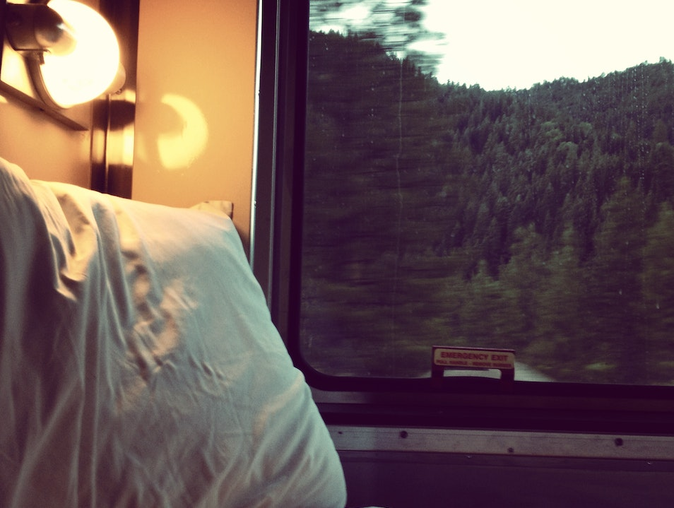 Onboard a Pullman sleeper car from SF to Portland Red Bluff California United States