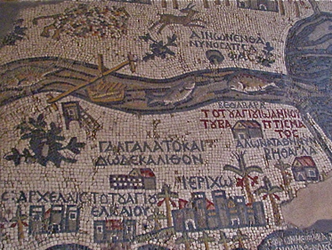View the Madaba Map in St. George's Church
