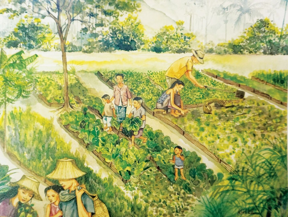 Emerging Thai Watercolor Artist Collaborates with Luxury Hotel