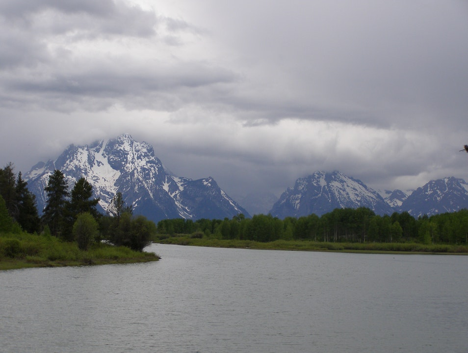 The Giants and the river Alta Wyoming United States