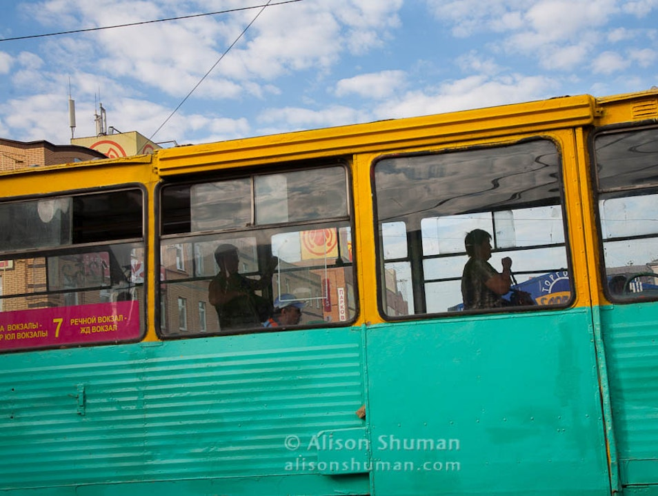 Buses, Trams, and Subway Cars Kazan'  Russia