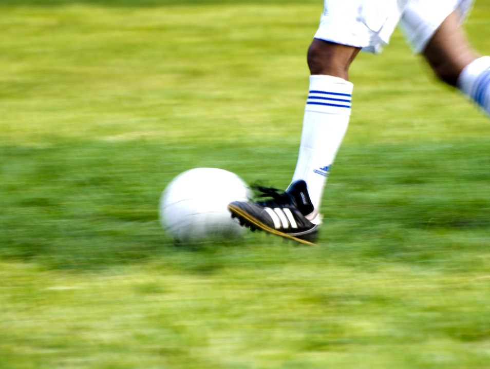 Play Soccer on Evesboro Downs