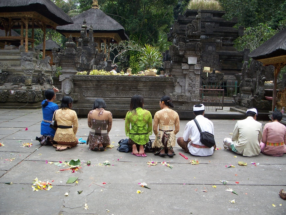 Visiting atemple in Ubud  Ubud  Indonesia