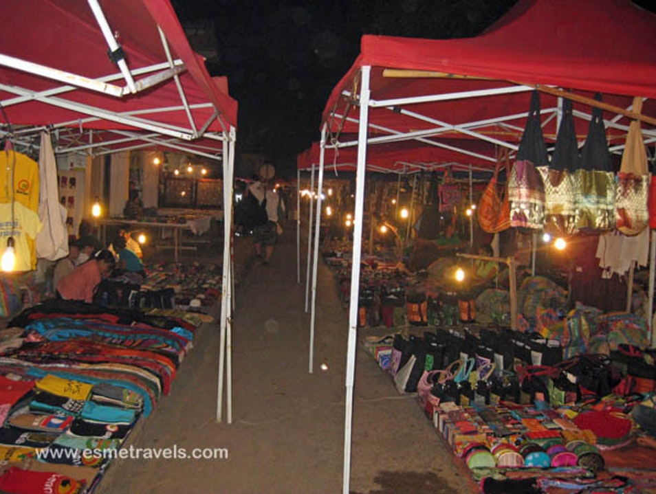 Perusing the NIght Market Luang Prabang  Laos