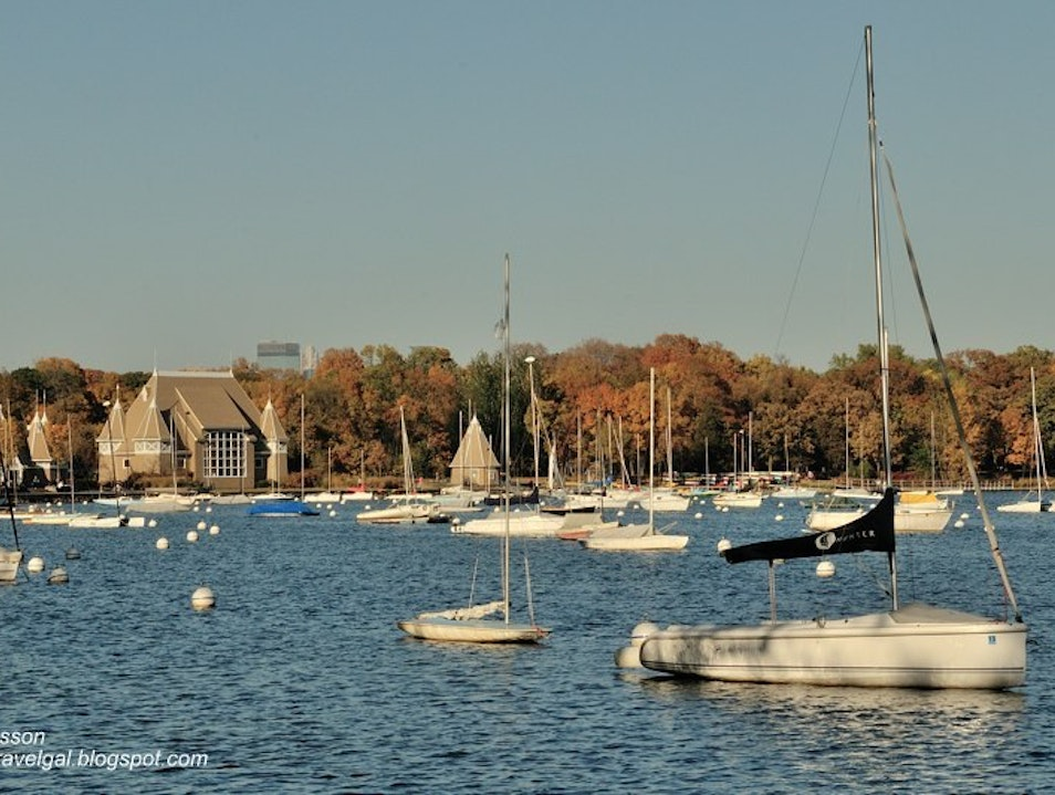 Fall's Beginning, Summer's End at Lake Harriet Minneapolis Minnesota United States