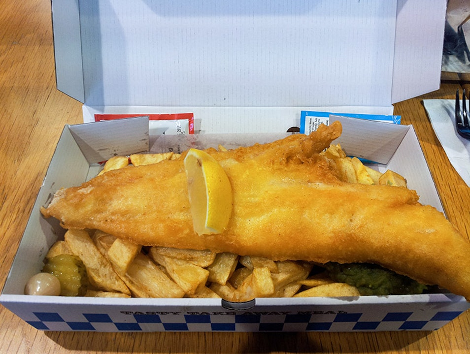 Delicious world famous fish and chips! Liverpool  United Kingdom