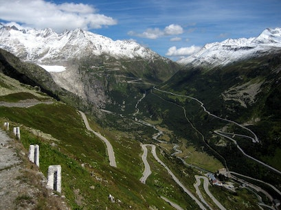 Furka Pass Obergoms  Switzerland