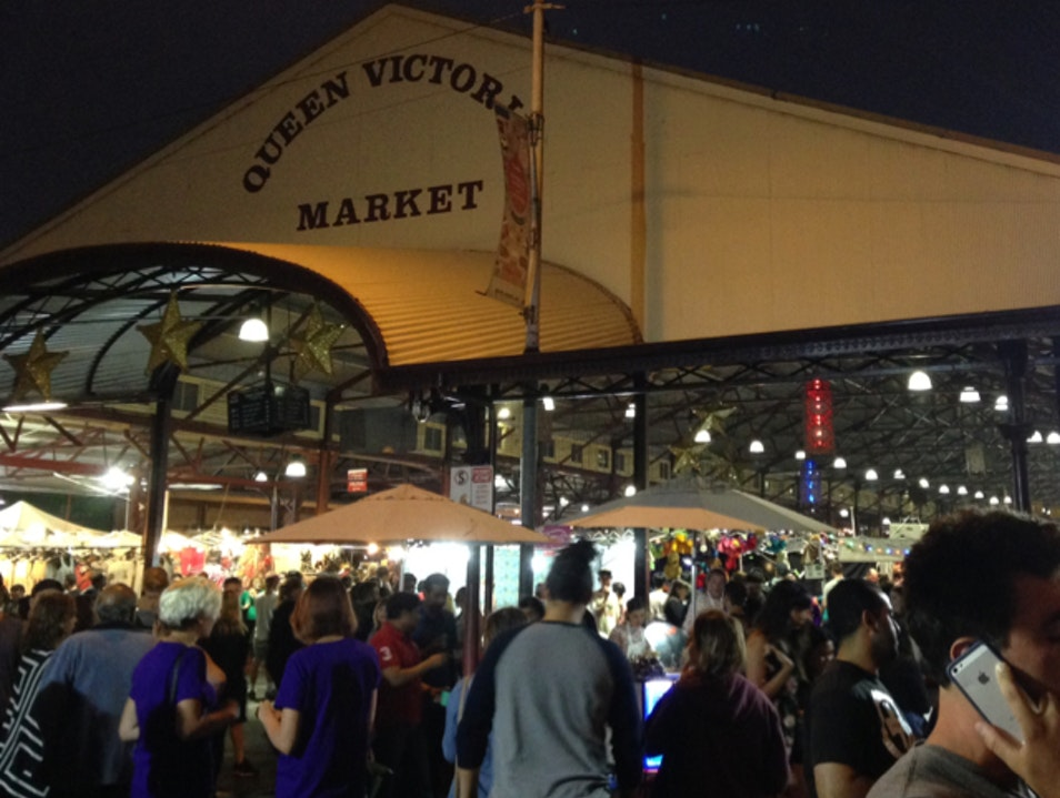 Wednesday Night Market at Queen Vic Melbourne  Australia