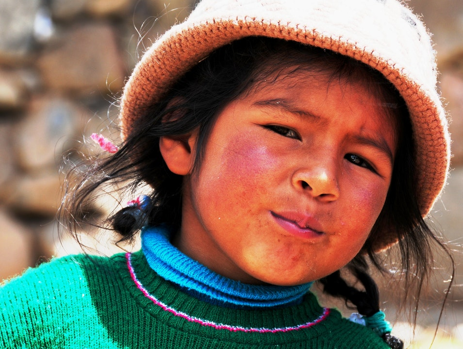 """Whatcha got there?"" Puno Region  Peru"