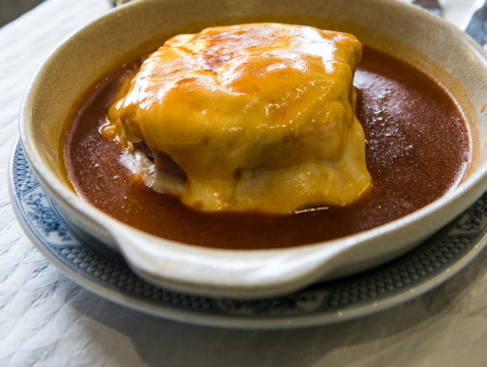 Feast on the Francesinha at the Café Embaixador, Porto, Portugal.  Porto  Portugal