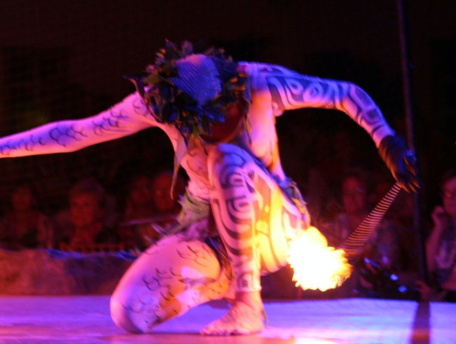 Fire Dancer at a Luau