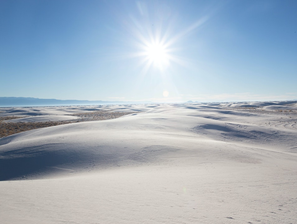White Sands National Monument in the Morning - South West Road Trip Tularosa New Mexico United States