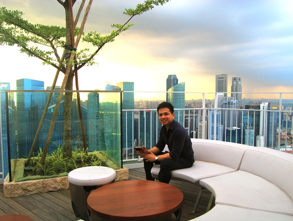 Relaxing at the Top of the Marina Bay Sands Singapore  Singapore