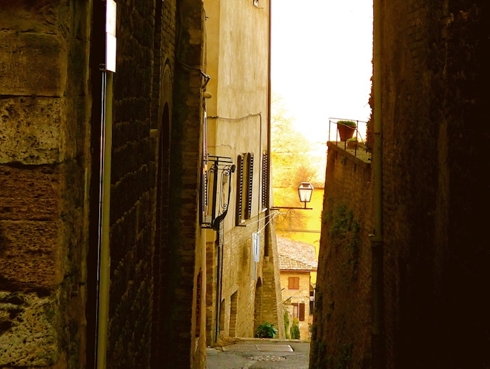Losing track of place and time San Gimignano  Italy
