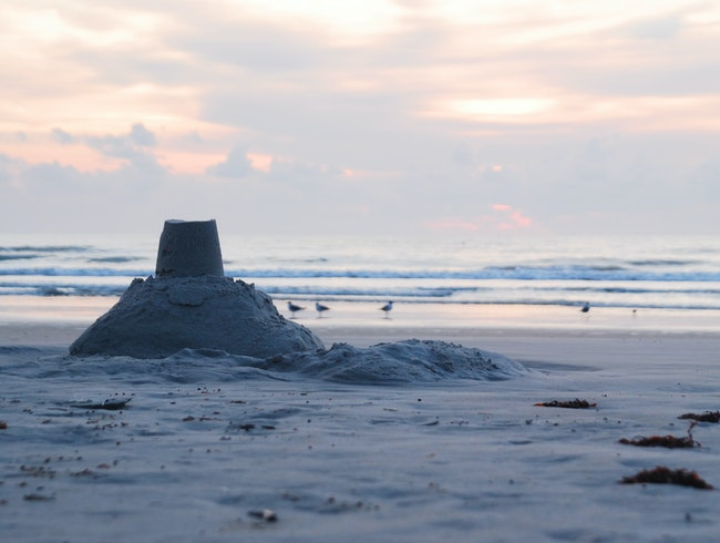 Sandcastle at Sunrise