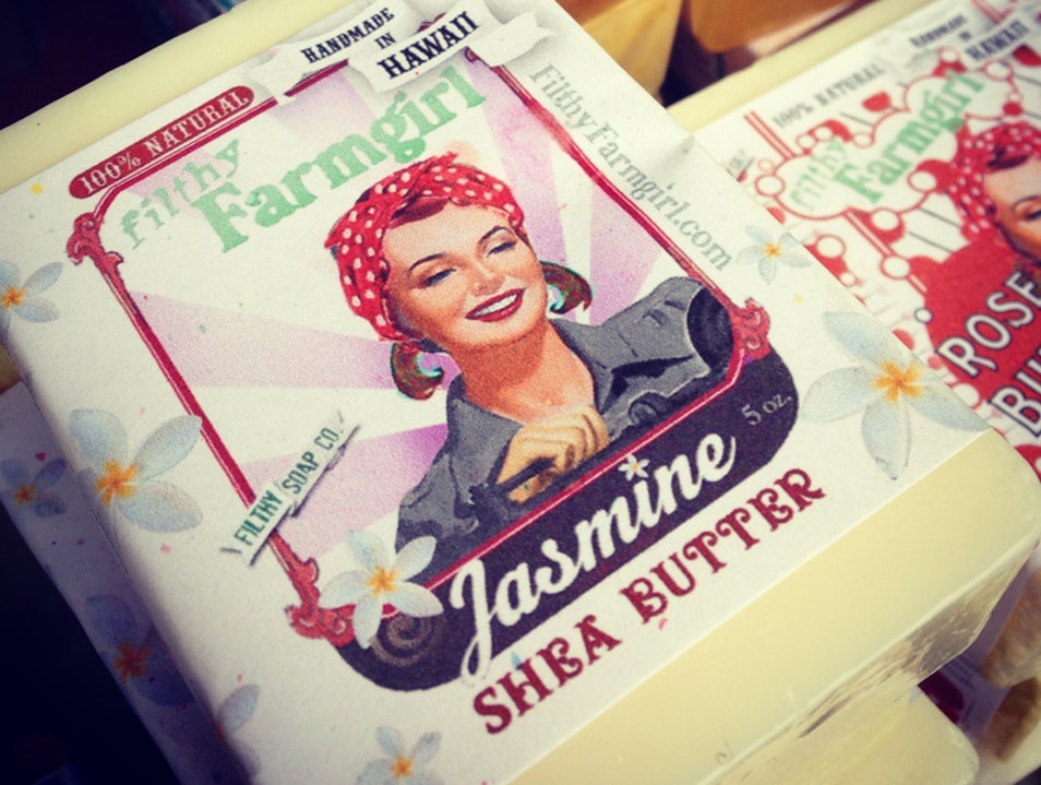 Get clean with Filthy Farmgirl Soap at the Hilo Farmer's Market