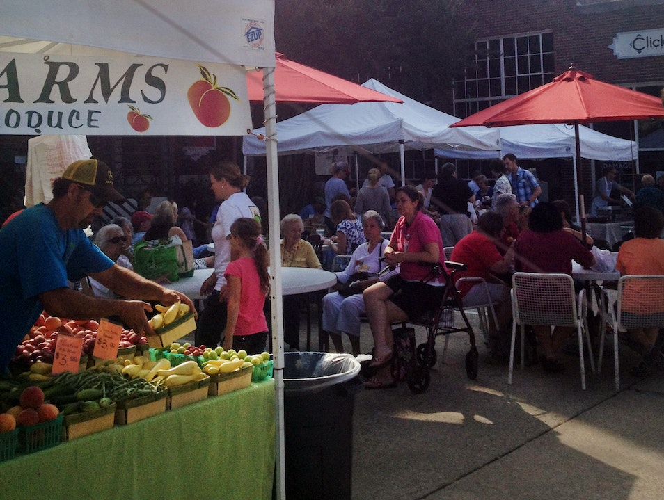 Shopping and Saturday Market at Pepper Place  Birmingham Alabama United States
