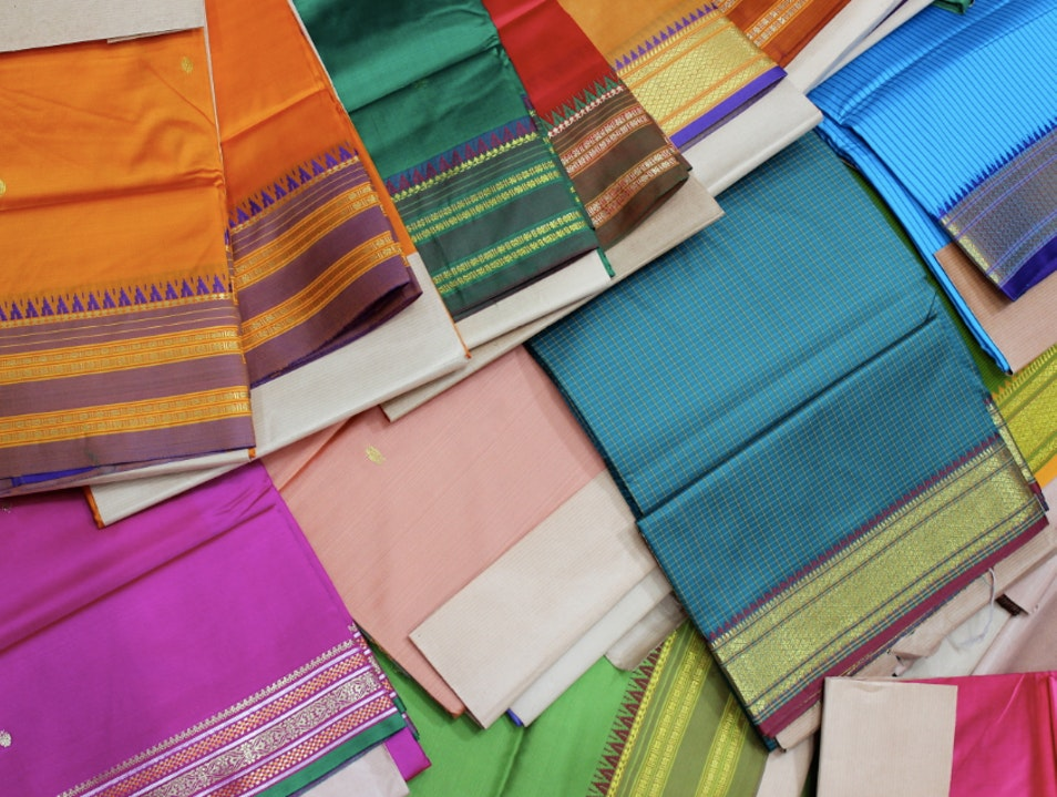 Surrounded by a Rainbow of Silk in Mumbai's Markets Mumbai  India