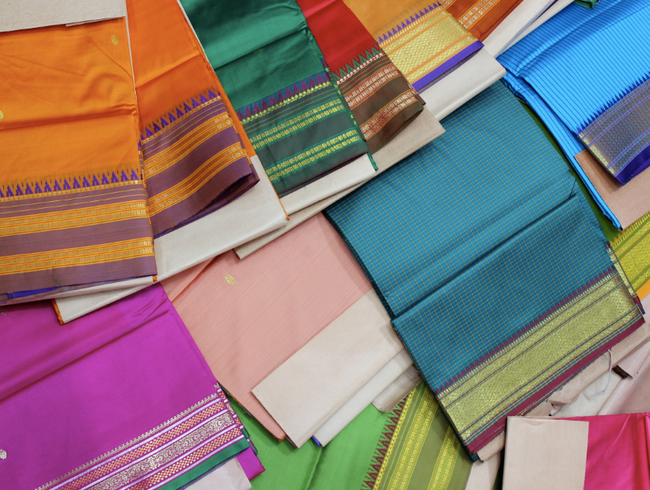 Surrounded by a Rainbow of Silk in Mumbai's Markets