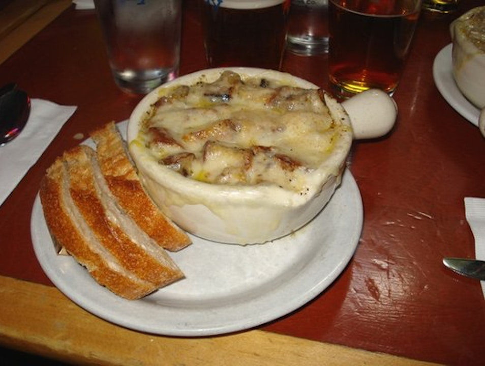 Falling for French Onion Soup Seattle Washington United States