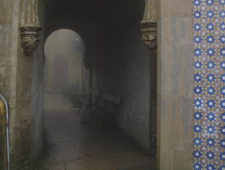 Foggy day at pena palace Sintra  Portugal