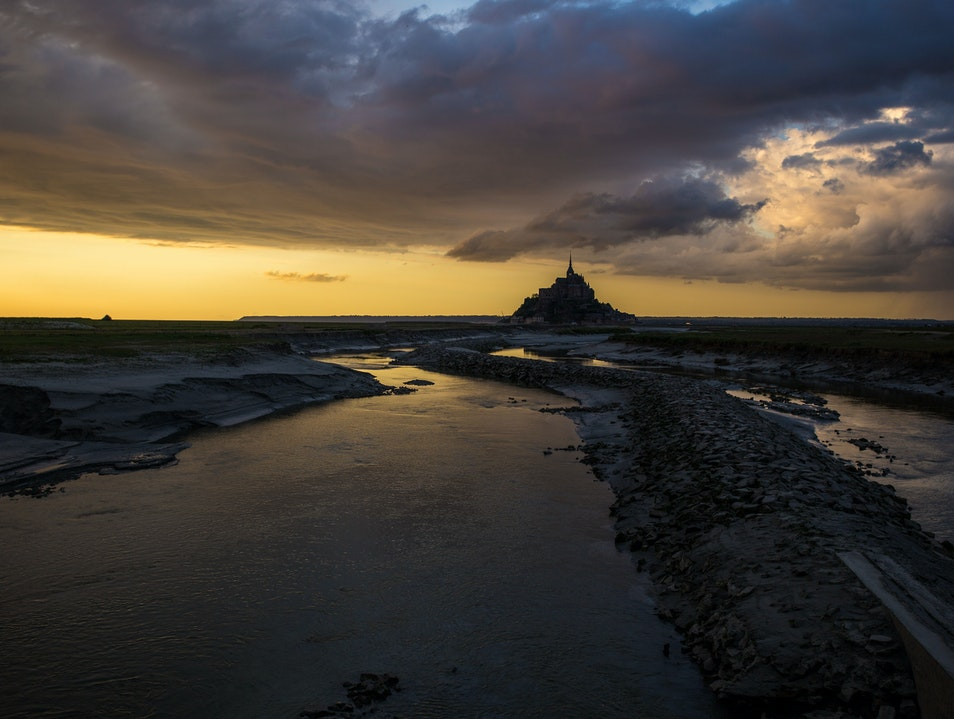 Sunset in Mont Saint-Michel Le Mont-Saint-Michel  France