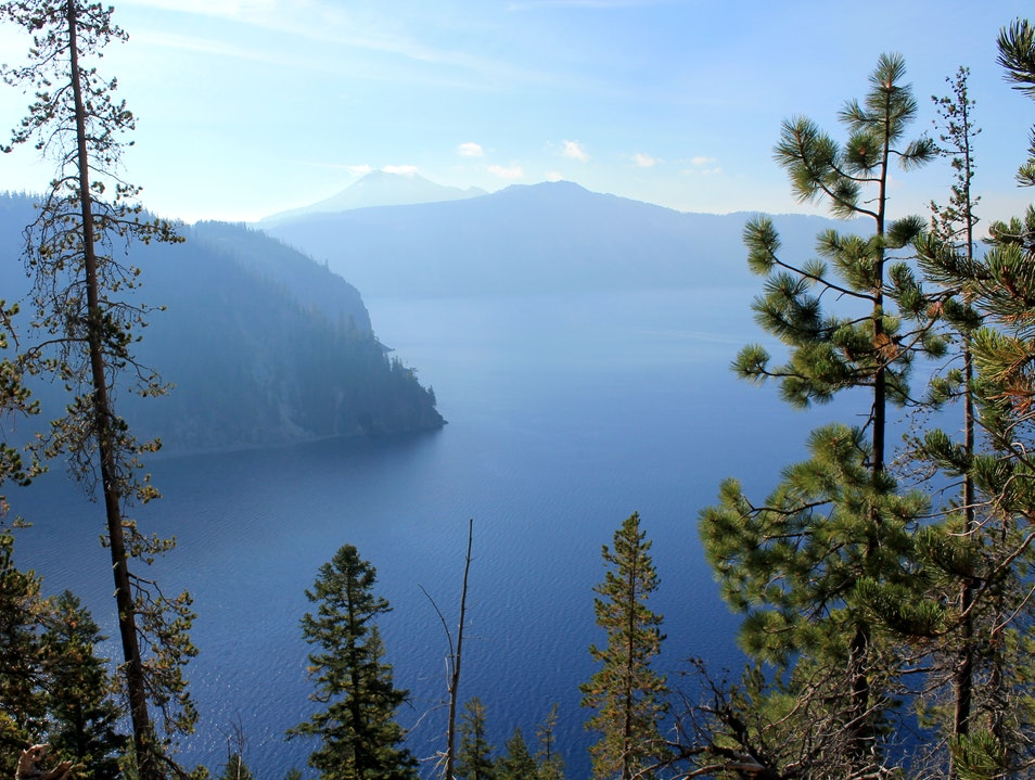 Hike down to boat launch - Crater Lake boat tour