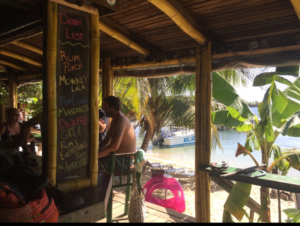 Best beach bar West End  Honduras