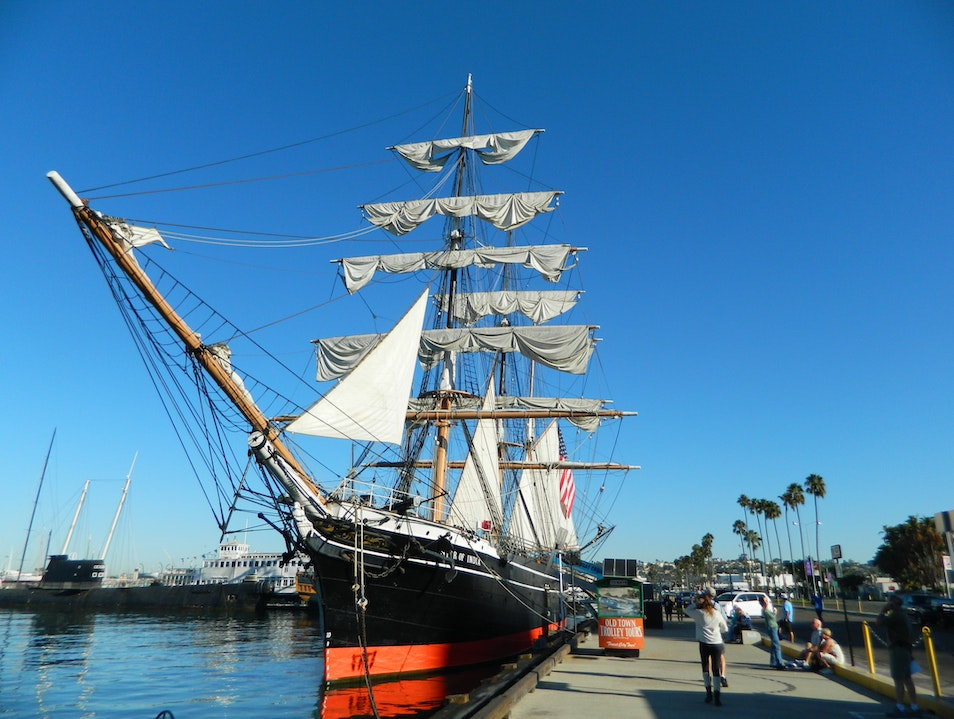 Iconic Ship in San Diego Harbor