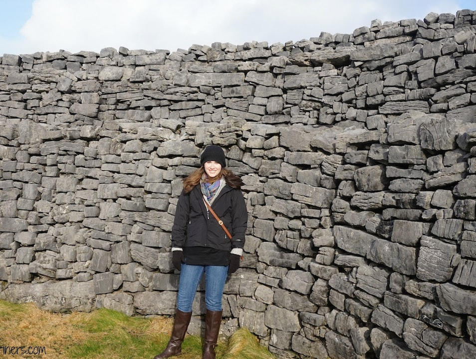 Standing on the Edge of Ireland at the Aran Islands Galway  Ireland