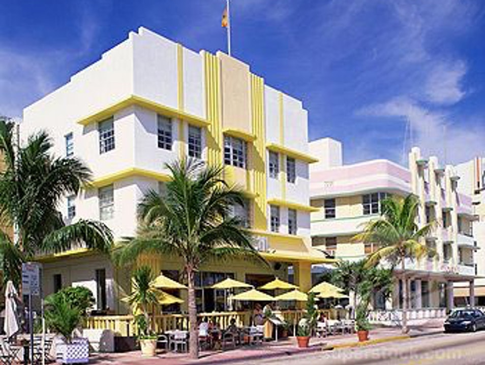 Tour of Art Deco Historic District Miami Beach Florida United States