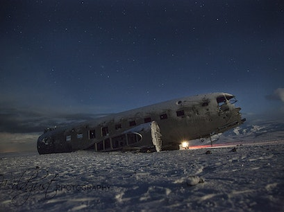 Old abdoned plane wreck South  Iceland