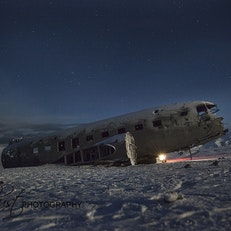 Old abdoned plane wreck