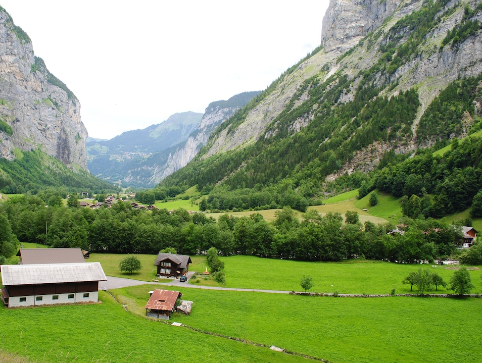 The Swiss Alps Lauterbrunnen  Switzerland