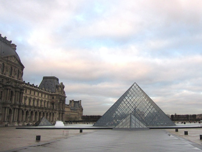 A Quiet Winter Morning at The Louvre