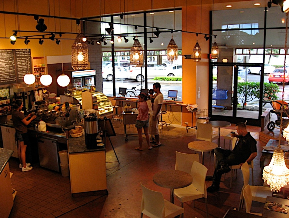 Small-Town Coffee Shop on Oahu Kailua Hawaii United States