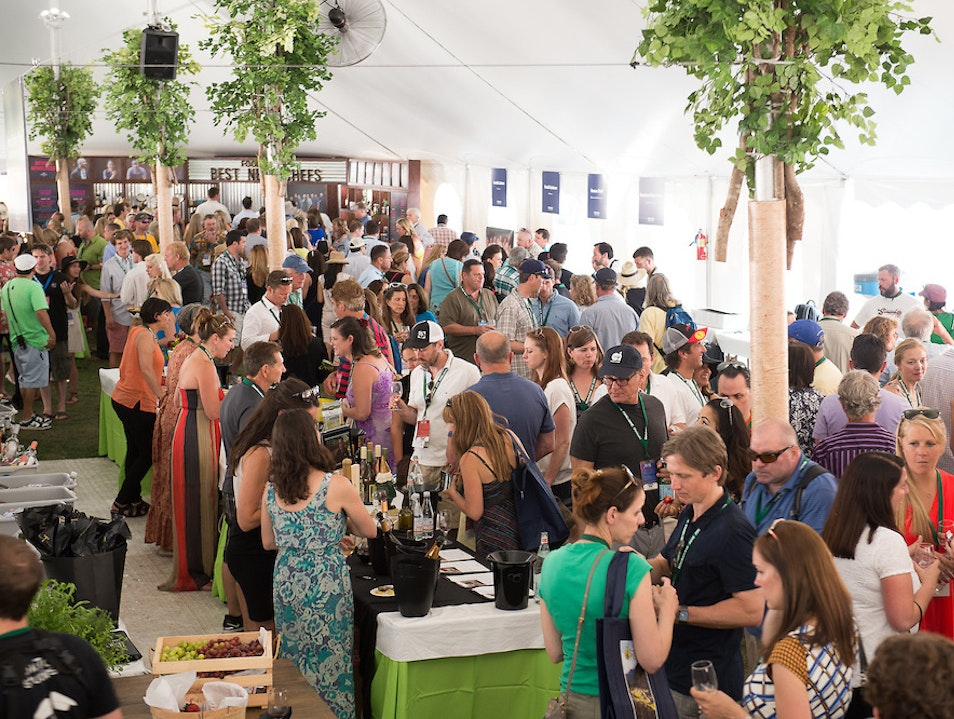 Zig Zag your Way through the Grand Tasting Tent Aspen Colorado United States