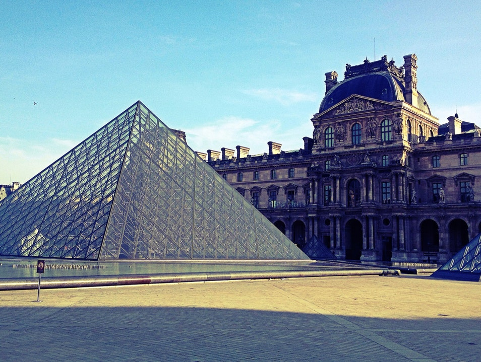 A Rare Quiet Moment at the Louvre Paris  France