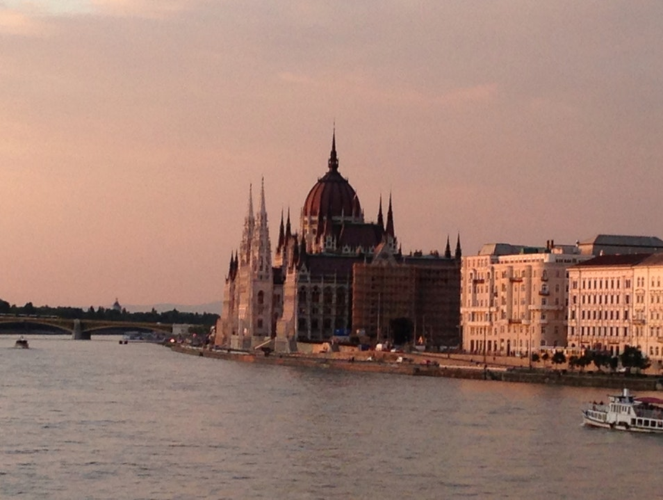 Sunset On The Danube Budapest  Hungary