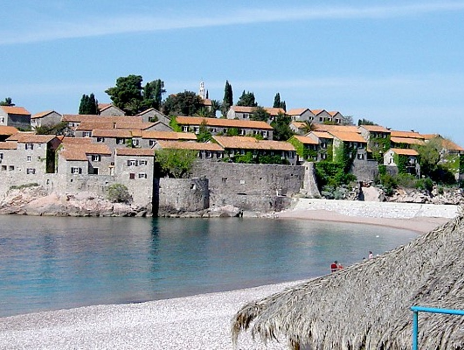 Stunning little island in Montenegro surrounded with beautiful beaches Sveti Stefan  Montenegro