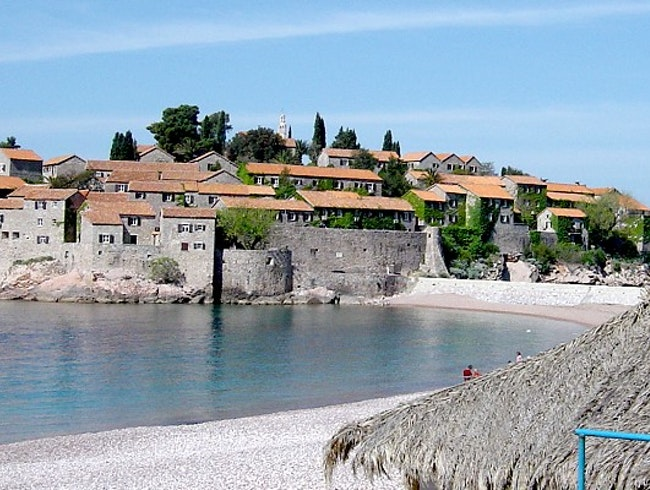 Stunning little island in Montenegro surrounded with beautiful beaches
